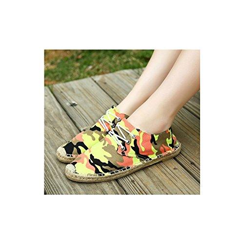 zapatillas transpirable deporte Moda de Casuales Las OCHENTA Dorado aqRg61
