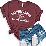 Asher's Apparel Schrute Farms Beets Bed and Breakfast Tshirt The Office (Medium, Maroon)