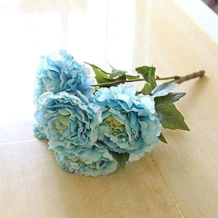 Flores Artificiales Flores Ramos Peony Arreglo Floral Para