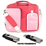 White TRIM PINK Pindar Durable Water-Resistant Nylon Protective Carrying Case Messenger Shoulder Bag For SONY VAIO T Series 13.3-Inch Touchscreen Ultrabook BLACK 4GB Swivel Thumbdrive