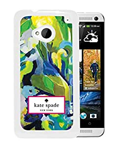 New Fashion Custom Designed Kate Spade Cover Case For HTC ONE M7 White Phone Case 23