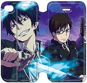 iphone 5C Flip Leather Phone Case Blue Exorcist XZ1UI6413709