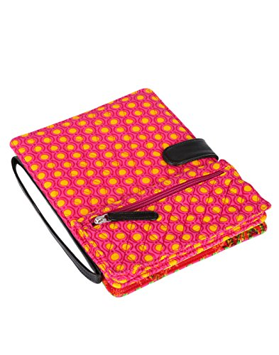 stylish-ipad-case-pink-polka-dot-printed-cotton-bag-for-women-by-rajrang
