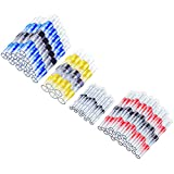 Artrinck 50pcs Solder Seal Wire Connectors, 22-10 AWG Heat Shrink Butt Connectors Kit Insulated Waterproof Marine Automotive Grade Terminal Set Electrical Wire Connector (Assortment:20Red+15Blue+10White+5Yellow)