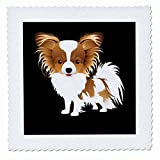 3dRose Sven Herkenrath Animal - Illustration of Funny Portrait Dog Pet Animal Puppy - 16x16 inch quilt square (qs_280314_6)
