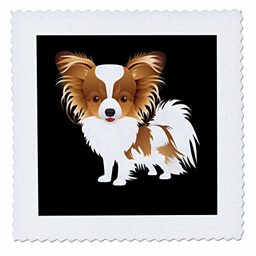3dRose Sven Herkenrath Animal - Illustration of Funny Portrait Dog Pet Animal Puppy - 16x16 inch quilt square (qs_280314_6) by 3dRose