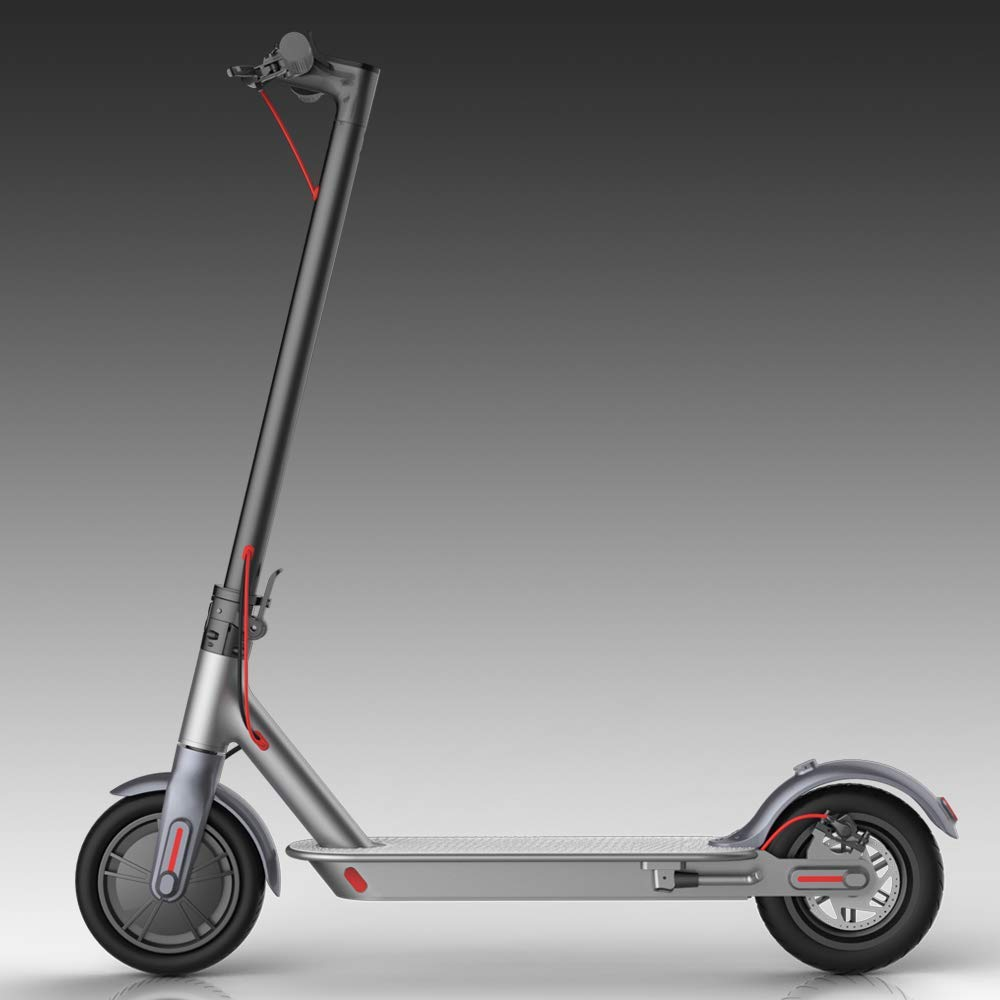 VEEKO Electric Scooter for Adults - Foldable Electric Kick Scooter with 15.5 Miles Long Range,15.5 MPH High Speed,350w Motor,8.5'' Portable Lightweight E-Scooter for Adults (US with Warranty) (Black) by VEEKO