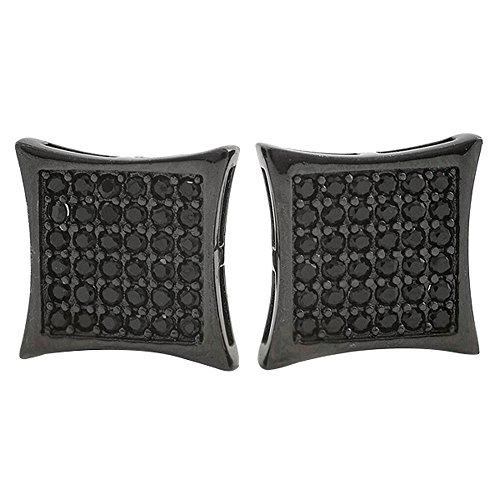 Black Kite Bling Micropave Earrings