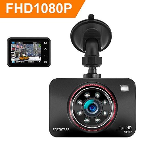 Dash Cam, Earthtree Dashboard Camera Full HD 1080P 2.7