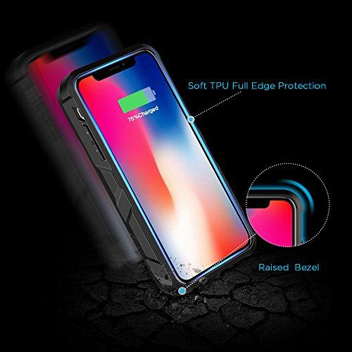 EasyAcc Wireless Battery Case for iPhone X, 5000 mAh Extended Battery Charger Case for iPhone 10 - Black by EasyAcc (Image #3)