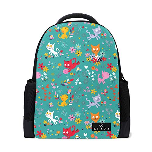 Cat Costume for Girls Backpack Lightweight School Backpack, Classic Basic Casual Backpack, Travel with Bottle Side - Casual Canine Backpack Hoodie