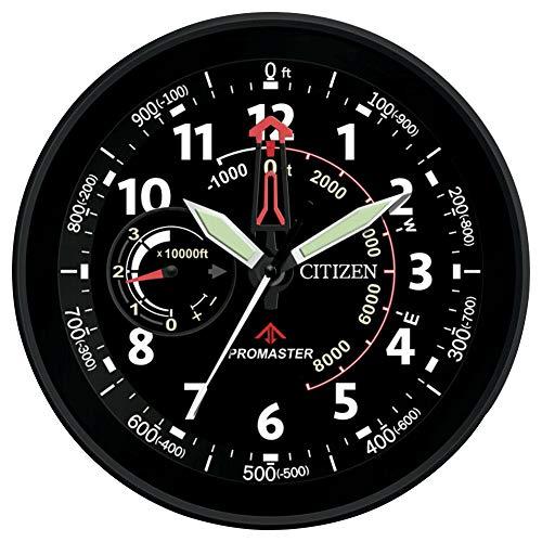 Citizen CC2014 Gallery Wall Clock, Black (Citizen Wall Clock)