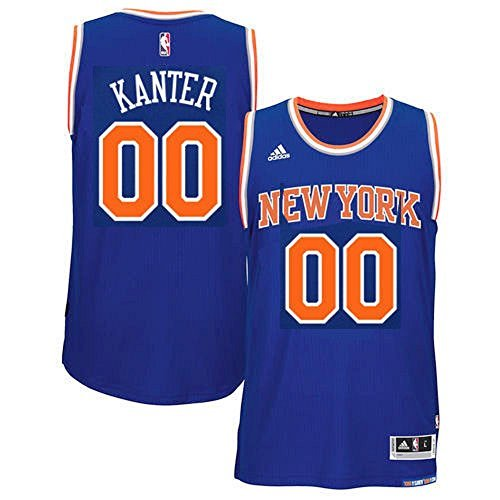 6a190c115567 adidas Enes Kanter New York Knicks NBA Youth Blue Road Replica Jersey  (Youth Large 14-16)