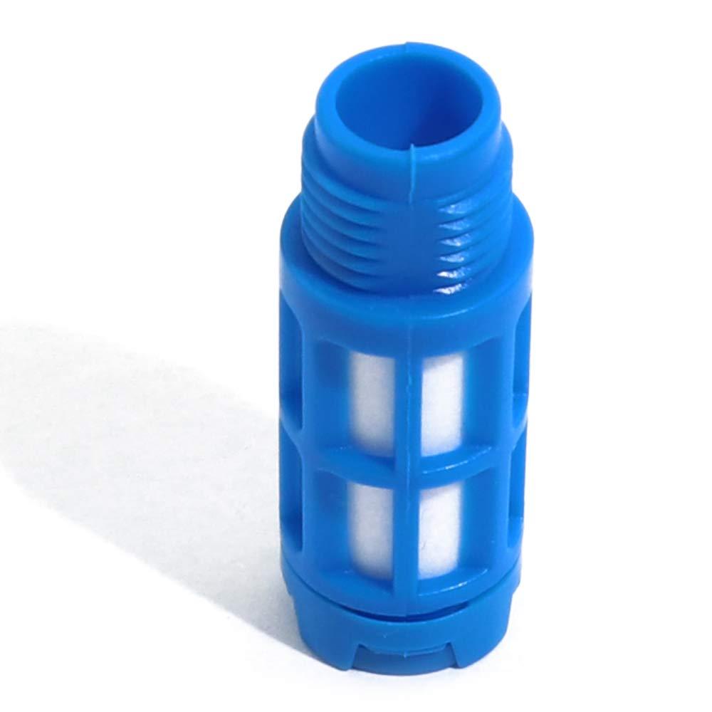 Boeary 10pcs 1//8 NPT Male Thread Black Plastic Exhaust Noise Reducer Air Pneumatic Muffler Filter Silencer