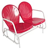Jack Post BH-10CR Retro Glider, 31-1/4 by 41-3/4 by 34-Inch, Red