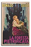 The Petrified Forest - (#1) Vintage Movie Poster (10x15 Wood Wall Sign, Wall Decor Ready to Hang)