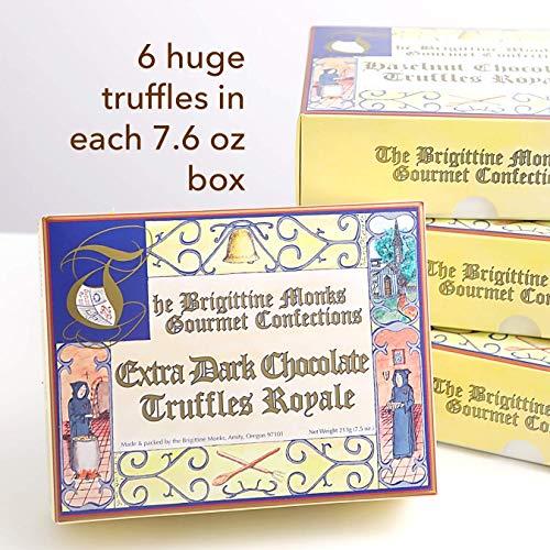 (Brigittine Monks Extra Dark Chocolate Truffles Royale, box of 6)