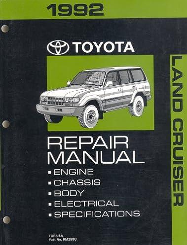 1992 toyota land cruiser repair manual toyota amazon com books rh amazon com 1991 Toyota Land Cruiser 1992 toyota land cruiser repair manual