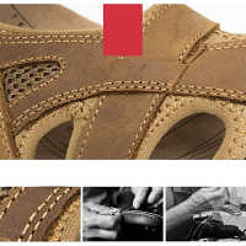 Baotou Pelle Pelle Sandali In Sandali Sportive In Primo Spiaggia Casual lightbrown Di Da YXLONG Scarpe Uomini All'aperto Estate Strato Nuovi 5Saqq4