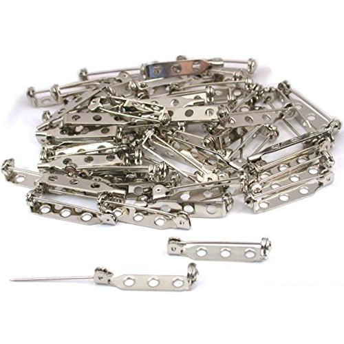 MXXGMYJ Tone Brooch Pins Locking Pin Backs Safety Pin Jewelry Bar Pin Findings Craft Pin Backs Safety Catch 100Pcs