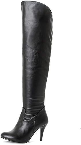 Damen Overknee Stiefel Stiefeletten Winterstiefel Kniestiefel Lang Warm Schuhe