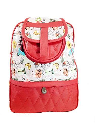 Jovial Bags Women #39;s Backpack Handbag  Red,Jbp022 A