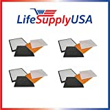 4 Pack Filter Kit Fits Rabbit Air Air Minus A2 SPA-780A & SPA-780A by LifeSupplyUSA