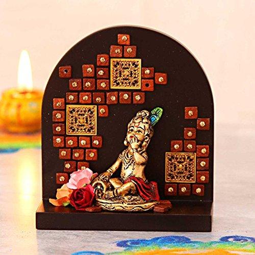 Cute Lord Krishna Idol Made in Fiber