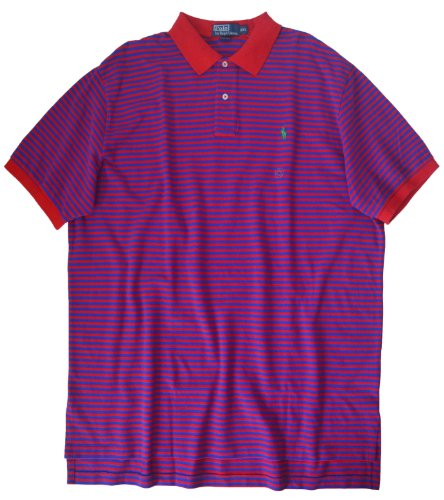 Polo Ralph Lauren Classic-Fit Thin-Striped Polo, Red/Blue, (Classic Fit Striped Rugby)