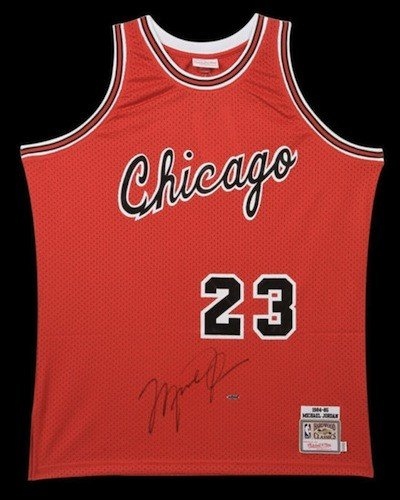 finest selection fe10d f9bbb MICHAEL JORDAN Signed Bulls Rookie Circa 1984-85 M&N ...