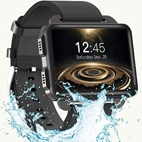 XIAYU Waterproof Health Tracker, Fitness Tracker Color Screen Sport Smart Watch,Smart Watch WiFi Android 3G 2.2 inch Large Screen GPS Navigation Dual-core Sports Bracelet,Black