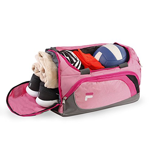 with Sports Pink Duffel Compartment Small Shoe Advantage Bag Gym wXAxaqTq