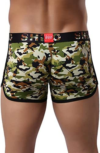 Cedir Mens Waistband Camouflage Bottoms Boxer Shorts