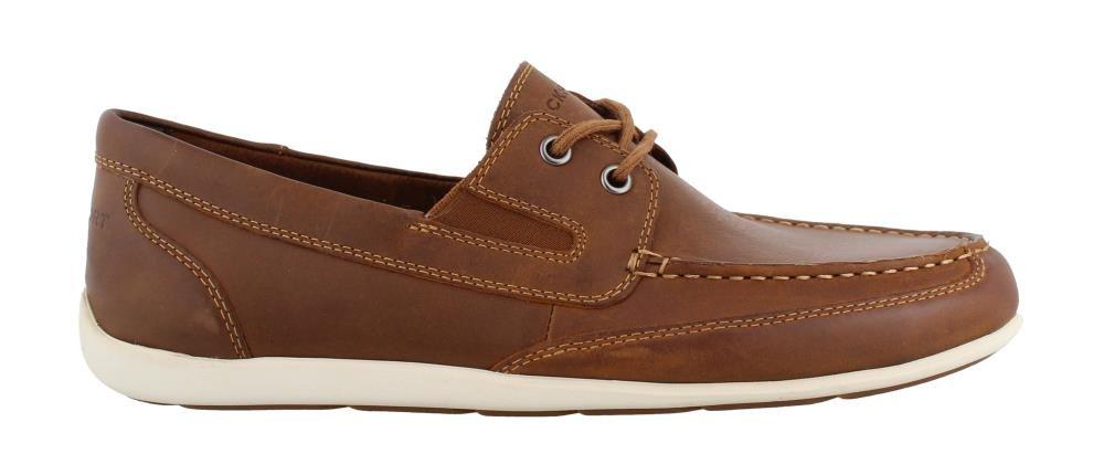 Rockport Men's, Bennett Lane 4 Boat Shoes Cognac 10.5 W
