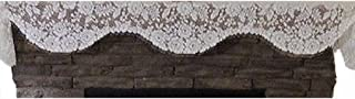"product image for Heritage Lace Victorian Rose 84"" x 15.5"" Ivory/Cream Mantle Scarf"