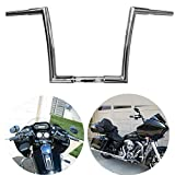 TTX-LIGHTING 1 1/4'' Chrome 12'' Ape Hanger Handlebar Drag Bar For Harley 1996-2018 Softail Dyna Sportster 1992-2019 Touring Road King Street Glide FLHR FLHX FLTR FLHT