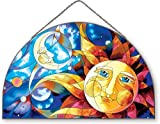Joan Baker Designs AP505 Celestial Glass Art Panel, 16-1/2 by 10-1/2-Inch