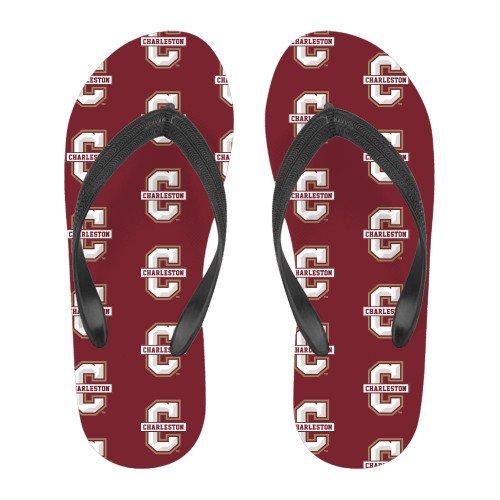 College Of Charleston Fyrfärg Flip Flops Officiella Logotypen - C Charleston