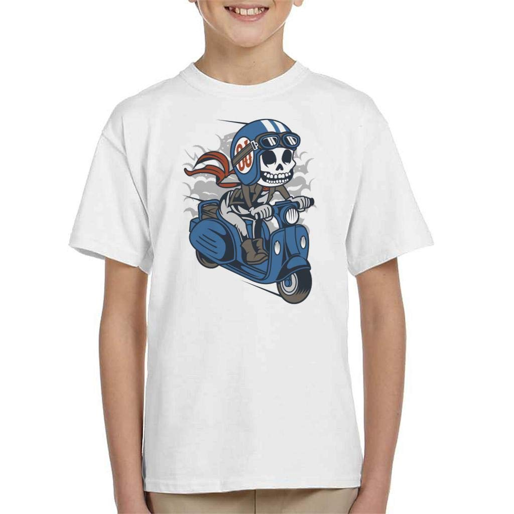 Coto7 Skull Scooter Kids T-Shirt