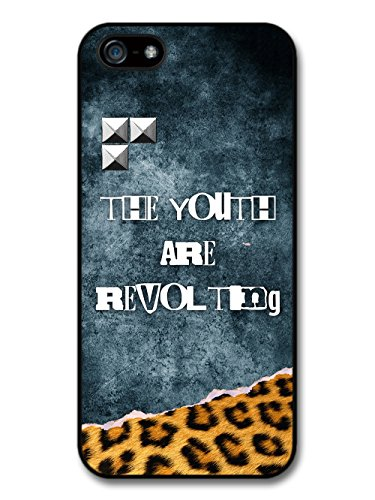 The Youth are Revolting Quote Punk Anarchy Goth Grunge wiht Leopard Print case for iPhone 5 5S