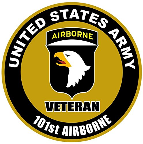 Chiam-Mart 1 Pc Hair Raising Unique United States Army Veteran 101st Airborne US Sticker Sign Outdoor Window Military Decor Wall Hoverboard Automotive Trucks Decal Kids Car Stickers Size 12