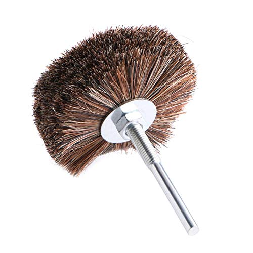 JPONLINE 856mm Polishing Disc Horse Hair Grinding Wheel Wire Brush for Wood Carving Jewellery Polishing Abrasive Tools 1PC