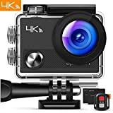 APEMAN Action Camera 4K WiFi 16MP Waterproof Underwater Camera Ultra Full HD Sport Cam 30M Diving with 2' LCD 170° Wide-Angle, 2.4G Remote Control, 2 Rechargeable Batteries, 20 Accessories Kits