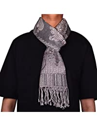 Wool Paisley Mens Neck Scarf Gift Muffler Indian Clothing (64 x 13 inches)