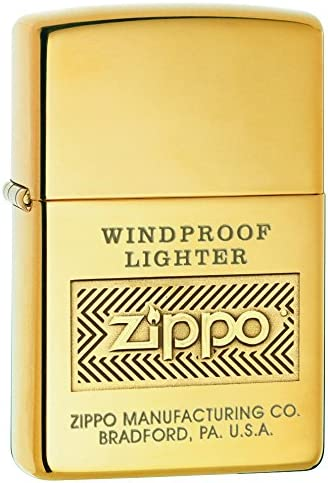 Zippo Logo Mechero, Metal, High Polish Brass: Amazon.es: Hogar