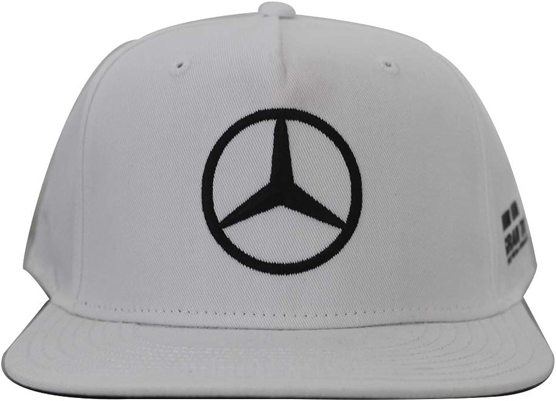 Mercedes AMG F1 Team Driver Puma Hamilton Flat Peak Gorra Blanco ...