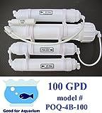 0PPM Portable 100GPD Reverse Osmosis RO+DI Filtration POQ-4B-100