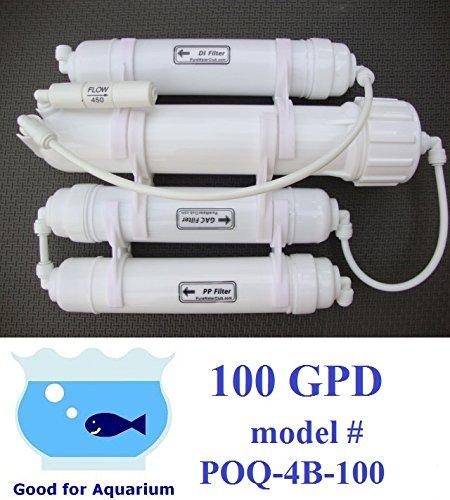 0PPM Portable 100GPD Reverse Osmosis RO+DI Filtration POQ-4B-100 by purewaterclub