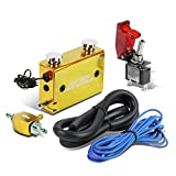 Dual Stage Turbocharger Boost Electronic Controller Kit + Rocket Switch (Gold)