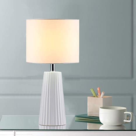 Cuaulans 18\'\' Modern Ceramic Table Lamp, White Table Lamps for ...